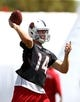 Jun 10, 2014; Tempe, AZ, USA; Arizona Cardinals quarterback Ryan Lindley during mini camp at the teams Tempe training facility. Mandatory Credit: Mark J. Rebilas-USA TODAY Sports