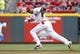 Aug 12, 2014; Cincinnati, OH, USA; Cincinnati Reds center fielder Billy Hamilton (6) steals second base during the first inning against the Boston Red Sox at Great American Ball Park. Mandatory Credit: Frank Victores-USA TODAY Sports
