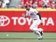 Aug 12, 2014; Cincinnati, OH, USA; Cincinnati Reds center fielder Billy Hamilton (6) rounds second base during the first inning against the Boston Red Sox at Great American Ball Park. Mandatory Credit: Frank Victores-USA TODAY Sports