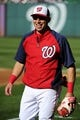 Aug 16, 2014; Washington, DC, USA; Washington Nationals second baseman Asdrubal Cabrera (3) on the field before the game against the Pittsburgh Pirates at Nationals Park. Mandatory Credit: Brad Mills-USA TODAY Sports