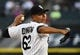Aug 19, 2014; Chicago, IL, USA; Chicago White Sox starting pitcher Jose Quintana (62) throws a pitch against against the Baltimore Orioles during the first inning at U.S Cellular Field. Mandatory Credit: Mike DiNovo-USA TODAY Sports