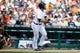 Aug 14, 2014; Detroit, MI, USA; Detroit Tigers catcher Alex Avila (13) at bat against the Pittsburgh Pirates at Comerica Park. Mandatory Credit: Rick Osentoski-USA TODAY Sports