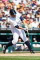 Aug 14, 2014; Detroit, MI, USA; Detroit Tigers first baseman Miguel Cabrera (24) at bat against the Pittsburgh Pirates at Comerica Park. Mandatory Credit: Rick Osentoski-USA TODAY Sports