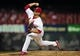 Aug 20, 2014; St. Louis, MO, USA; St. Louis Cardinals relief pitcher Trevor Rosenthal (26) throws to a Cincinnati Reds batter during the ninth inning at Busch Stadium. The Cardinals defeated the Reds 7-3. Mandatory Credit: Jeff Curry-USA TODAY Sports