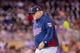 Aug 19, 2014; Minneapolis, MN, USA; Minnesota Twins manager Ron Gardenhire walks back to the dugout against the Cleveland Indians at Target Field. Mandatory Credit: Brad Rempel-USA TODAY Sports