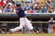 Aug 21, 2014; Minneapolis, MN, USA; Minnesota Twins second baseman Brian Dozier (2) at bat in the against the Cleveland Indians at Target Field. Mandatory Credit: Brad Rempel-USA TODAY Sports