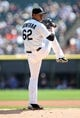 Aug 31, 2014; Chicago, IL, USA; Chicago White Sox starting pitcher Jose Quintana throws a pitch against the Detroit Tigers during the first inning at U.S Cellular Field. Mandatory Credit: Jerry Lai-USA TODAY Sports