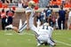 Aug 30, 2014; Charlottesville, VA, USA; UCLA Bruins place kicker Ka'imi Fairbairn (15) attempts field goal against the Virginia Cavaliers at Scott Stadium. Mandatory Credit: Geoff Burke-USA TODAY Sports