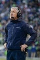 Jan 19, 2014; Seattle, WA, USA; Seattle Seahawks head coach Pete Carroll watches from the sideline during the first half of the 2013 NFC Championship football game against the San Francisco 49ers at CenturyLink Field. The Seahawks defeated the 49ers 23-17. Mandatory Credit: Kyle Terada-USA TODAY Sports