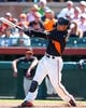 Mar 10, 2014; Scottsdale, AZ, USA; San Francisco Giants outfielder Gregor Blanco against the Chicago Cubs at Scottsdale Stadium. Mandatory Credit: Mark J. Rebilas-USA TODAY Sports