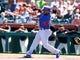 Mar 10, 2014; Scottsdale, AZ, USA; Chicago Cubs infielder Emilio Bonifacio against the San Francisco Giants at Scottsdale Stadium. Mandatory Credit: Mark J. Rebilas-USA TODAY Sports