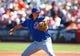 Mar 10, 2014; Scottsdale, AZ, USA; Chicago Cubs pitcher Jeff Samardzija throws against the San Francisco Giants at Scottsdale Stadium. Mandatory Credit: Mark J. Rebilas-USA TODAY Sports