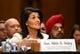 Jan 18, 2017; Washington, DC, USA;  Nikki Haley, nominee for U.N. Ambassador, during confirmation hearing before the Senate Foreign Relations Committee.  Mandatory Credit: Robert Deutsch-USA TODAY NETWORK