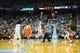 Jan 16, 2017; Chapel Hill, NC, USA; Syracuse Orange and North Carolina Tar Heels during tip off in the first half at Dean E. Smith Center. Mandatory Credit: Bob Donnan-USA TODAY Sports